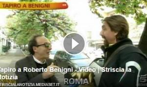 Guarda la versione ingrandita di Roberto Benigni, Tapiro d'Oro per la patente: