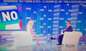 Silvio Berlusconi, ospite di Domenica Live