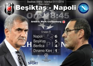 Besiktas-Napoli streaming - diretta tv, dove vederla