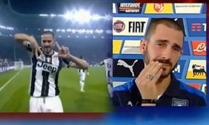 Bonucci parla del figlio e si commuove in diretta Tv