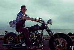 Bruce Springsteen in moto