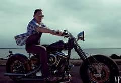 Bruce Springsteen in moto