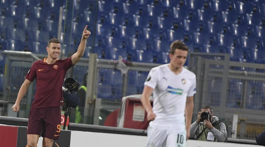 Roma - Viktoria Plzen 4-1 di Europa League nelle foto Ansa