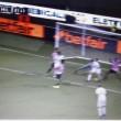 Gianluca Lapadula video gol tacco Palermo-Milan 1-2