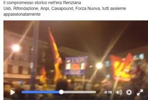 "Video Youtube, Referendum ""NO"". Partigiani e Casapound cantano insieme contro Renzi"