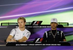 Guarda la versione ingrandita di Lewis Hamilton e Nico Rosberg (Ansa)
