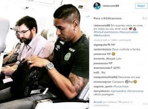 Chapecoense, disastro aereo: il messaggio Instagram di Cleber Santana prima dello schianto