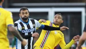 Guarda la versione ingrandita di Udinese: Danilo e Lodi, lite in allenamento. Il brasiliano entra troppo duro (nella foto d'archivio Ansa, Danilo)