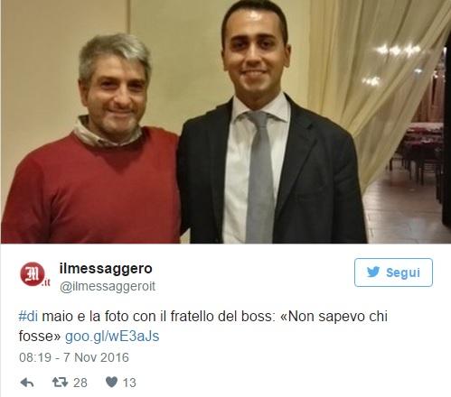 """Luigi Di Maio fotografato col fratello del boss: """"Non sapevo chi fosse""""2"""