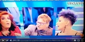 VIDEO YOUTUBE Domenica Live, lite Filippo Facci-Manuela Villa-Patrizia De Blanck