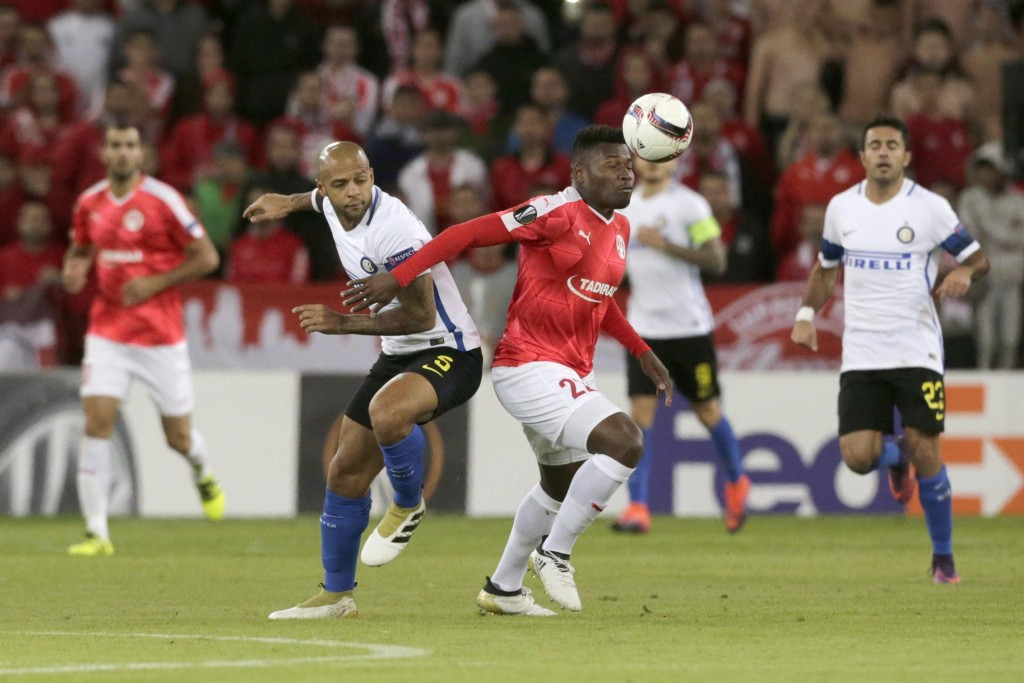 Hapoel Beer Sheva - Inter di Europa League nelle foto Ansa