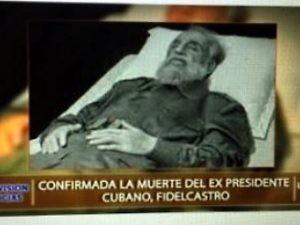 La tv di Stato cubana dà l'annuncio della morte e fa vedere il corpo del leader comunista