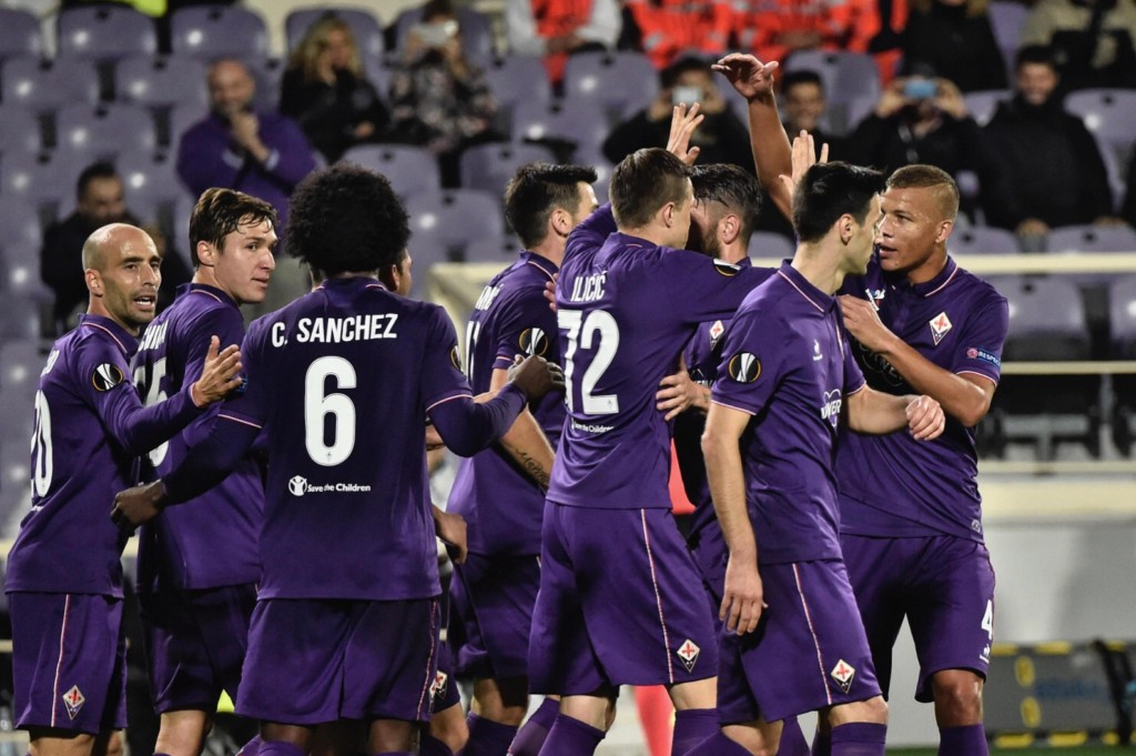 Fiorentina - Slovan Liberec 3-0 (foto Ansa)