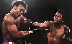 Foreman e Ali sul ring a Kinshasa