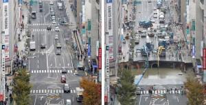 Giappone, maxi voragine riparata in due giorni. Ti immagini a Roma?