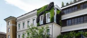 Roma, il giardino verticale di Prati: 2mila piante su una facciata