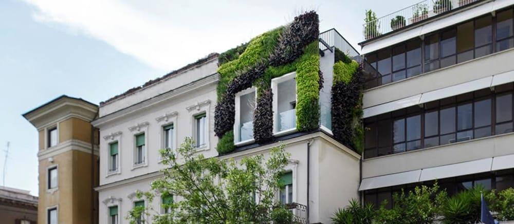 Roma giardino verticale nel quartiere prati palazzo green - Giardino verticale madrid ...
