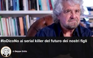 """Referendum, Beppe Grillo: """"Sì è il serial killer dei nostri figli"""""""