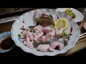 YOUTUBE Rana viva nel piatto servita nel ristorante giapponese