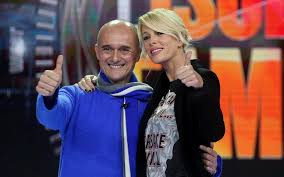 Alessia Marcuzzi e Alfonso Signorini (foto Ansa)
