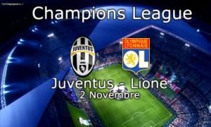 Juventus-Lione diretta live formazioni ufficiali video gol highlights