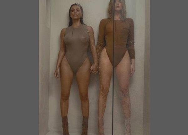 Kim e Khloe Kardashian: FOTO in body...sotto la doccia