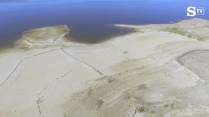 Siccità, lago Omodeo in Sardegna si sta prosciugando VIDEO