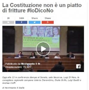 """Referendum, M5S: """"Renzi ha paura come una scrofa ferita"""""""