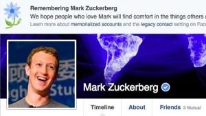 Facebook annuncia per errore la morte dei suoi utenti...anche Zuckerberg