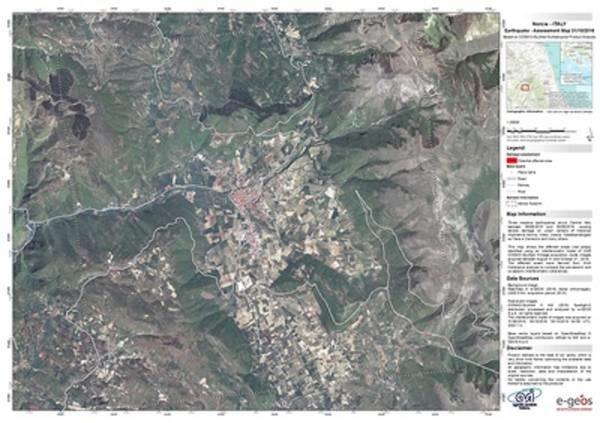 Terremoto Norcia, le prime immagini dai satelliti FOTO