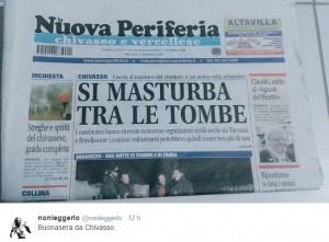 """La Nuova Periferia, prima pagina choc: """"Tra le tombe...."""" FOTO"""