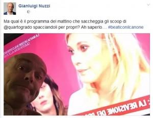 """Gianluigi Nuzzi e la stoccata a Eleonora Daniele: """"Copia scoop..."""""""