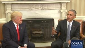 Guarda la versione ingrandita di Obama e Trump alla Casa Bianca: posizione di gambe, mani...cosa vogliono dire