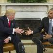 Donald Trump alla Casa Bianca, ricevuto da Obama11