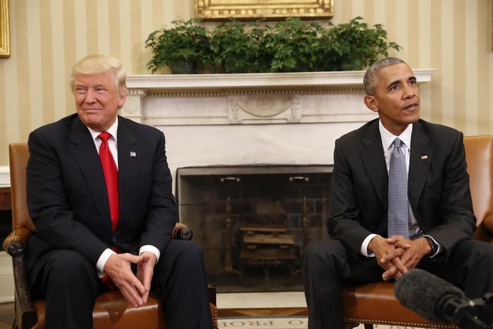Donald Trump alla Casa Bianca, ricevuto da Obama12