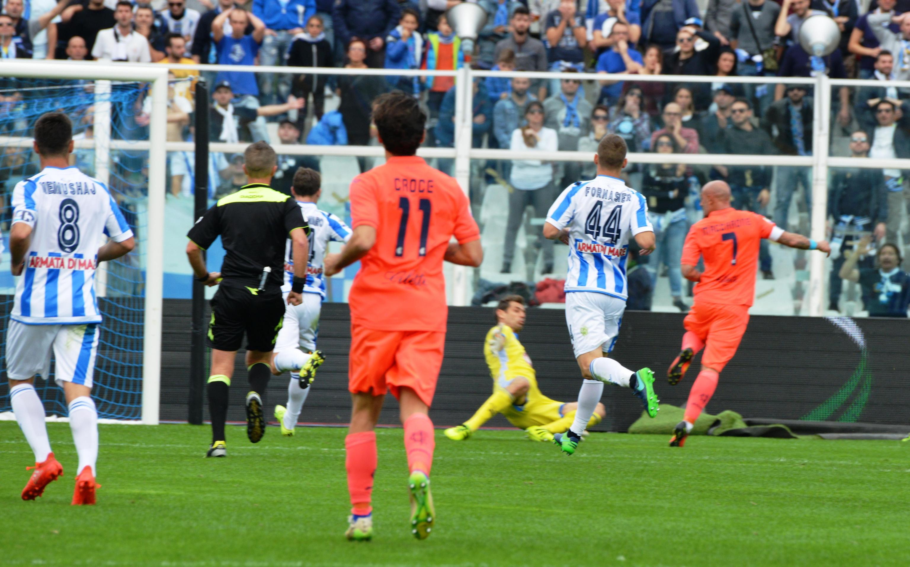 L'Empoli ha segnato quasi un quarto dei suoi goal in una partita (contro il Pescara, vincendo 4-0 all'Adriatico)