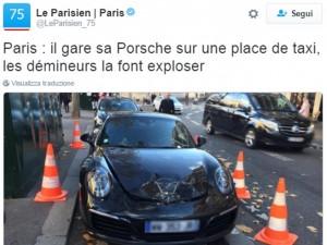 Parcheggia la Porsche sul posto taxi: la polizia la fa esplodere!