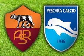 Roma-Pescara diretta live. Formazioni ufficiali video gol highlights foto pagelle