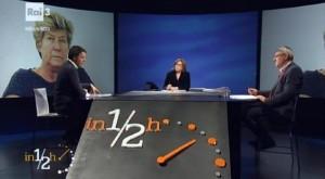 """Guarda la versione ingrandita di Referendum, Renzi-Landini scontro in tv: """"Sei pro Casta"""". """"Riforma malfatta"""""""