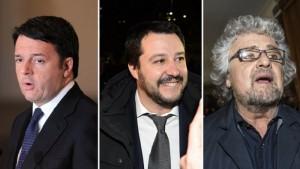 Guarda la versione ingrandita di Renzi sfida Europa, Grillo e Salvini lo sgambettano. Anche qui
