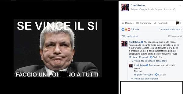 """Chef Rubio, Vendola vignetta come Madonna: """"Se vince il Sì al referendum faccio..."""""""
