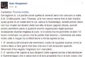 "San Marino contro Germania e Muller: ""Voi usate i sandali coi calzini"""