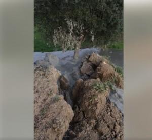 Terremoto, fango erutta dal terreno: strano fenomeno vicino a Fermo