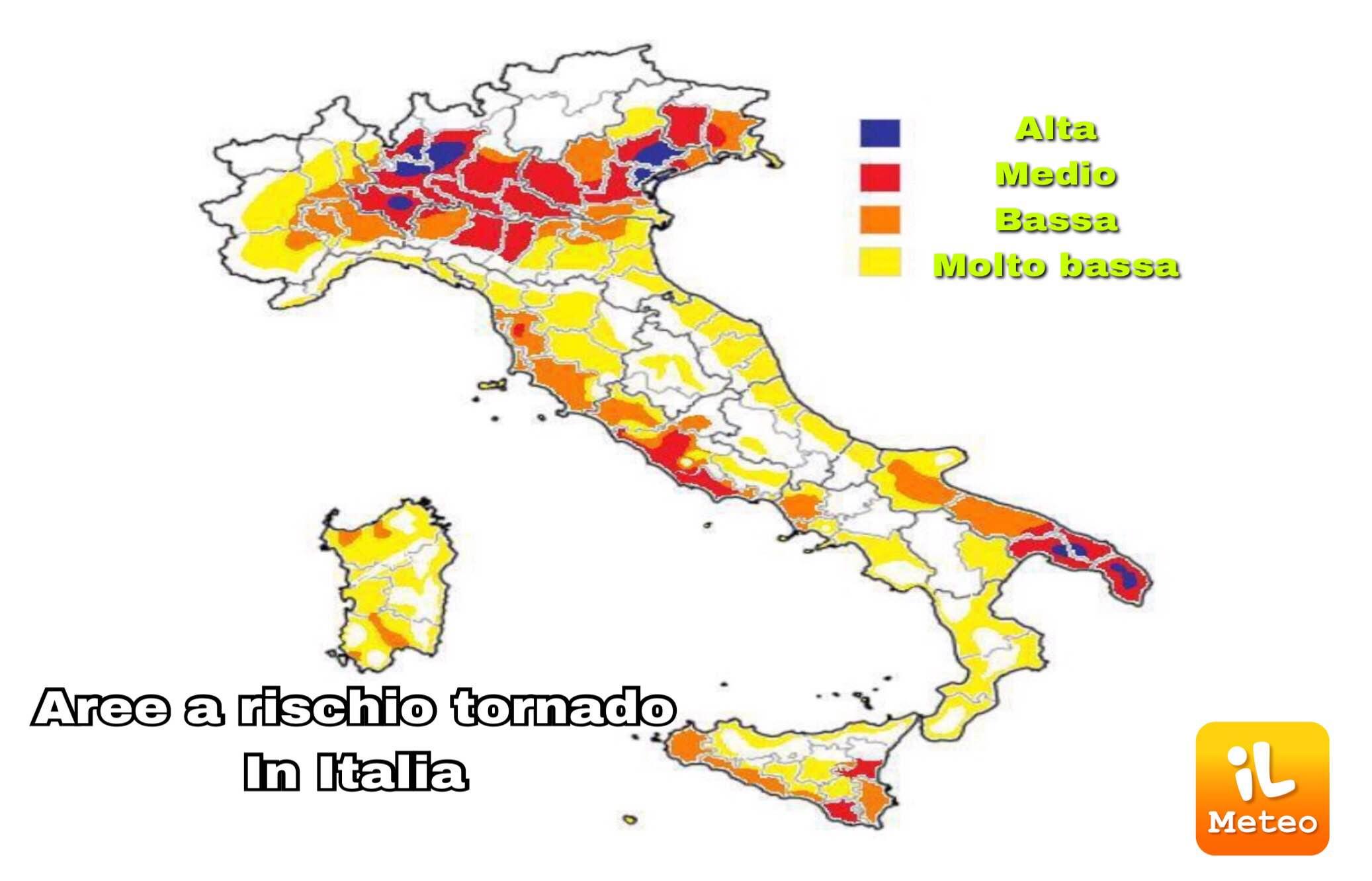 Meteo Italia Cartina.Tornado In Italia La Mappa Delle Zone A Rischio Foto