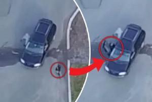 Segue la moglie con un drone e scopre il tradimento