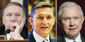 Donald Trump, squadra di falchi: chi sono Flynn, Sessions e Pompeo