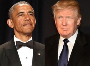 Guarda la versione ingrandita di Donald Trump alla Casa Bianca, ricevuto da Obama
