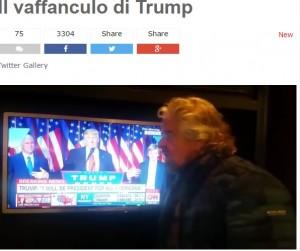 """Beppe Grillo su Trump: """"Un vaffa generale"""". E se al referendum vince il No si prende Italia"""