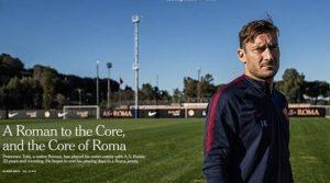 """Francesco Totti celebrato dal New York Times: """"Un romano nel cuore di Roma"""""""