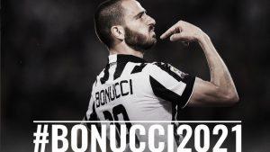 Leonardo Bonucci rinnova con la Juventus: contratto fino al 2021